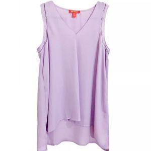 NEW Joe Fresh Lilac Sleeveless  Shirt Blouse SZ S